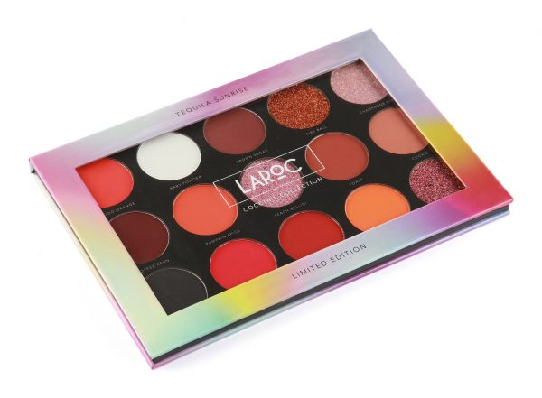 15pc Cocktail eyeshadow palette - Tequila Sunrise